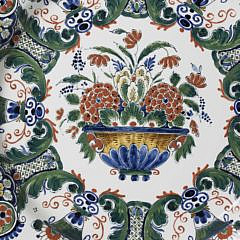 Royal Delft Underglazed Decorated Charger