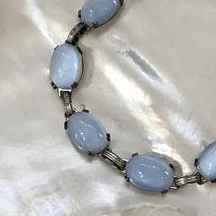 Danecraft Milky Blue Moonstone Sterling Silver Bracelet