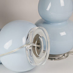 Pair of Contemporary Powder Blue Glass Lamps