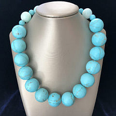 322-4621 Turquoise Bead Necklace A IMG_6493