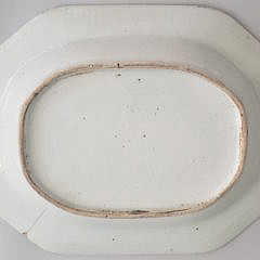 19th Century Canton Blue and White Rectangular Platter