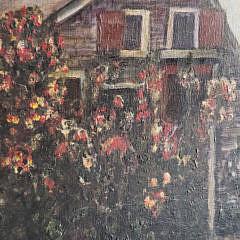 "Oil on Artist's Board ""Easy Street – Nantucket"", circa 1957"