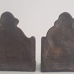Pair of Connecticut Foundry Co. Bronze Old Salt Fisherman Bookends