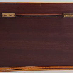 19th Century English Shell Inlaid Double Compartment Tea Caddy