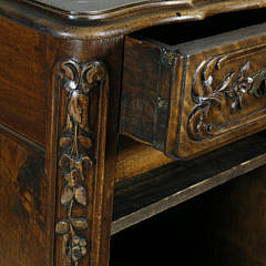 French Provincial Carved Walnut Cabinet, circa 1870