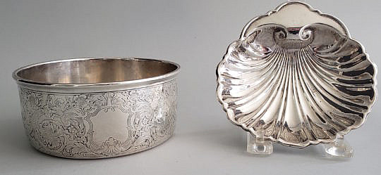 39-2674 Sterling Dish and Shell A