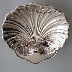 Sterling Silver Engraved Bowl and Shell Dish