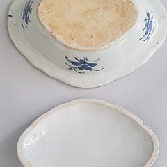 19th Century Chinese Canton Blue and White Covered Vegetable Dish