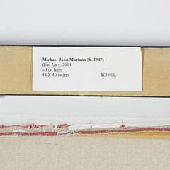 "Michael John Mariano Oil on Linen ""Blue Lace"", circa 2004"