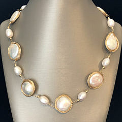 41315 Silver Wire Pearl Necklace A IMG_6526