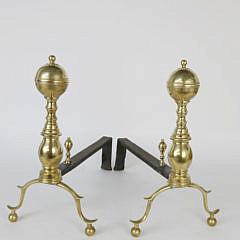 41396 Brass Ball Andirons A_MG_0320