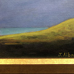 "Joan Albaugh Oil on Canvas Board ""Approaching Storm"""