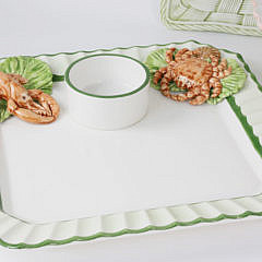 Four Ceramic Party Hors d'oeuvres Platters