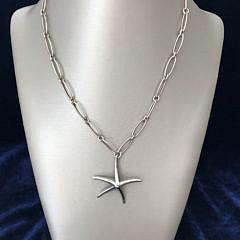 Tiffany & Co. Elsa Peretti Sterling Silver Starfish Necklace