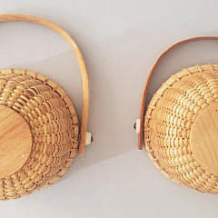 Two Henry Huyser Nantucket Swing Handle Baskets