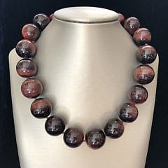 5-4838 Red Tigers Eye Necklace A IMG_6470