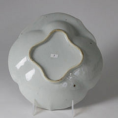 Chinese Export Porcelain Fitzhugh Shrimp Dish, 19th Century