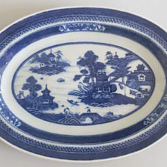 19th Century Chinese Nanking Covered Sauce Tureen and Underplate