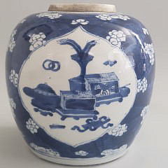 19th Century Chinese Blue and White Ginger Jar