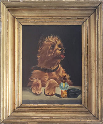 6-3176 Dog Portait Oil Painting A