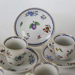 Richard Ginori Porcelain Partial Tea Service