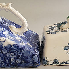 Two Blue and White English Wedgwood Porcelain Cheese Dishes