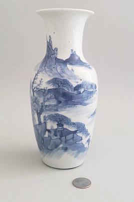 8-621 Blue White Vase A