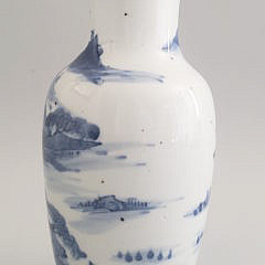 19th Century Blue and White Chinese Vase