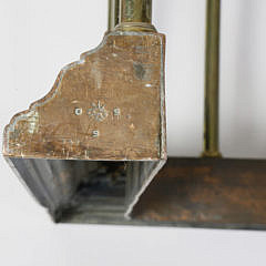 Signed William Tonks & Sons Brass and Leather Club Fire Fender, 19th century