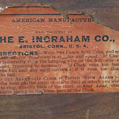 E. Ingraham Clock Co., Bristol, Connecticut Banjo Clock, 19th century