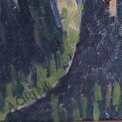 """Antonio Cirino Oil on Board, """"Summer River Landscape"""""""
