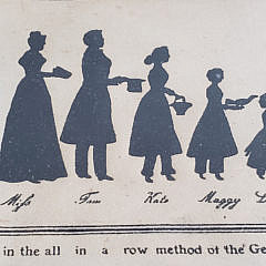 19th Century Family Group Silhouette
