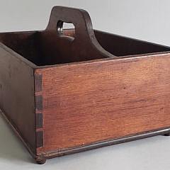 19th Century Dovetailed Mahogany Cutlery Tray