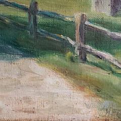 "Lila Hetzel Oil on Canvas ""Oldest House – Nantucket"""