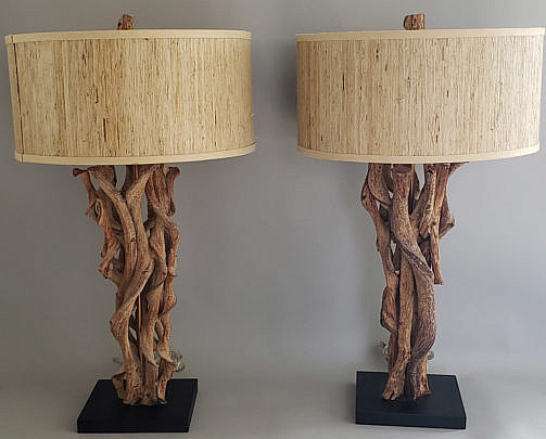 2402-955 Driftwood Lamps A
