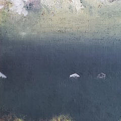 """Charles Green Shaw Oil on Board, """"Before The Storm"""", circa 1963"""