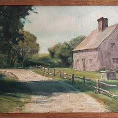 2406-955 Nantucket Cottage Painting A