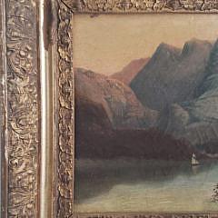 """Lake Como Italy"" Oil on Canvas, 19th Century"