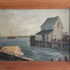 43-4147 Nantucket Wharf Painting A