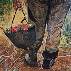 Pair of Robert C. McDougall Oil on Board Paintings