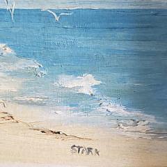 """Louise Stark Oil on Board, """"Squam Head – Nantucket"""""""