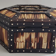 19th Century English Porcupine Quill Box