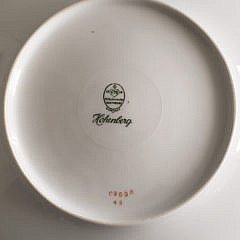 Set of Six Hutschenreuther Hohenberg Porcelain Dinner Plates