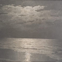 """David Gue Oil on Canvas """"Moonlight Shoreline"""""""
