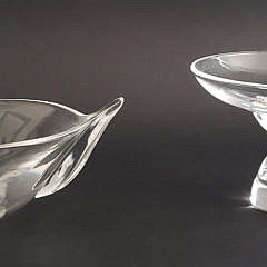 578-1865 Steuben Bowl and Compote A