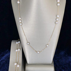 1-4960 Akoya Pearl Necklace and Bracelet A IMG_6738