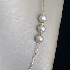 Fine Akoya Cultured Pearl Necklace and Bracelet Set, 14k Yellow Gold