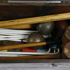 Antique Boxed Croquet Set
