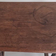 18th Century William and Mary English Oak and Elm Joint Stool