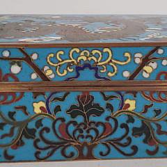 Antique Chinese Cloisonné Dragon Decorated Box